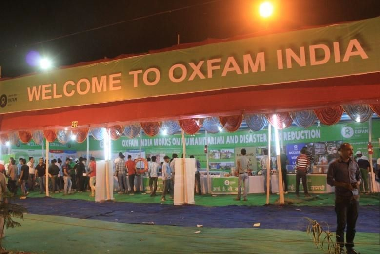 Oxfam India (Stall No 21) showcasing our work on Humanitarian and DRR theme at BSDMA pavilion