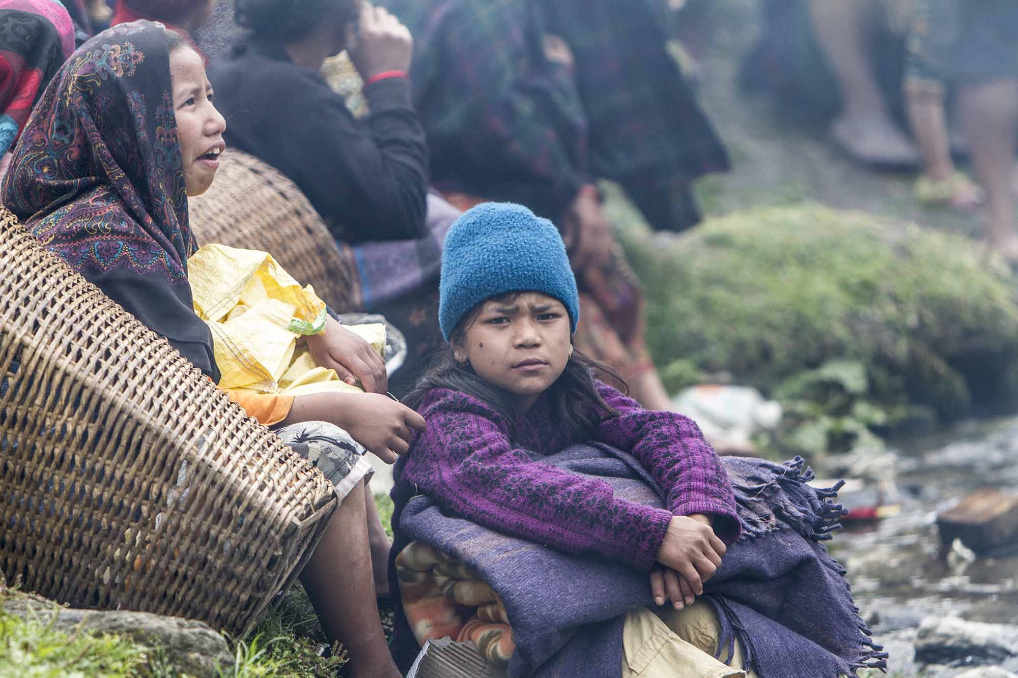 Children in Gorkha district have lost their homes and books.