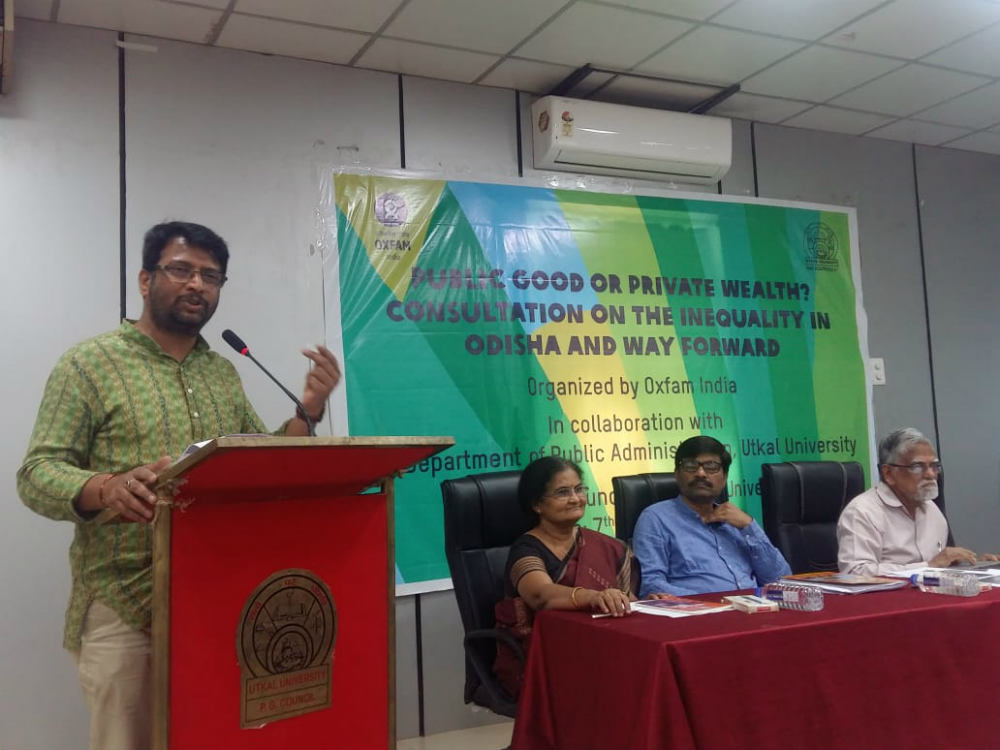 Utkal University students attend session on fighting inequality in india
