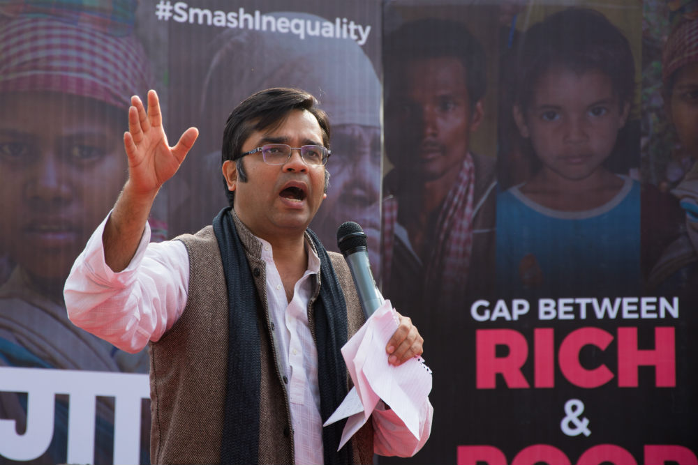 amitabh behar CEO oxfam india on inequality and the indian society