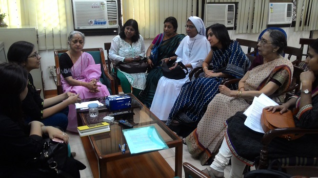 National Alliance of Ab33nahin50 meeting Swati Maliwal, Chairperson, Delhi Commission for Women on endorsing the Memorandum