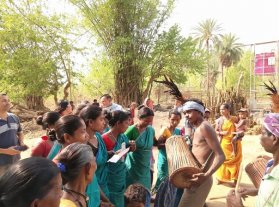 Traditional Dance of Santhali Tribal Forest Dwelling Community