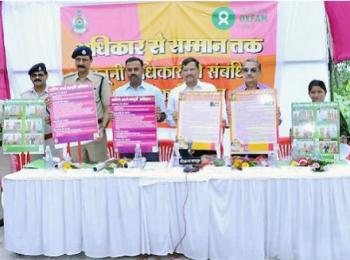 Oxfam India and Chhattisgarh Police jointly released awareness posters