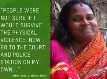 """People were not sure if I would survive..."" Amala Devi from Bihar"