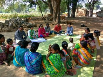Community workshop at an Anganwadi Centre in Nuagoan village, Odisha.