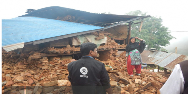 Oxfam assessing the situation in devastated Gorkha district