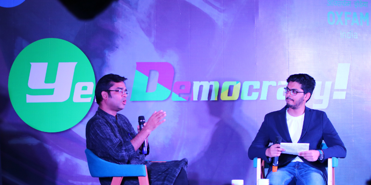 Oxfam India collaborates with Josh Talks to fight against democracy in India