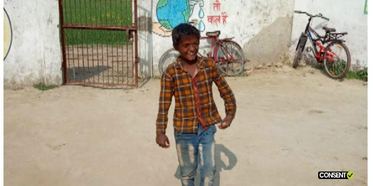 9-year old Zaid, one of Oxfam India's beneficiaries