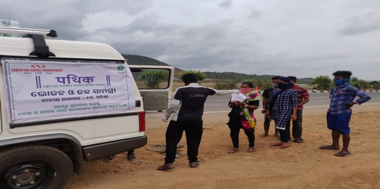 Distribution through Project Pathik continued even as the threat of Cyclone Amphan loomed large