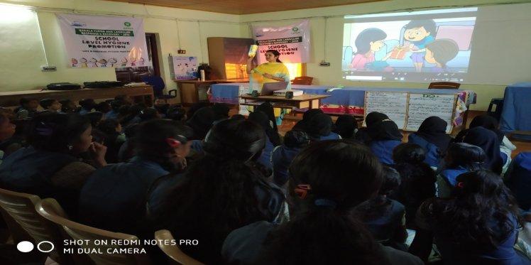 Training on menstrual hygiene in progress