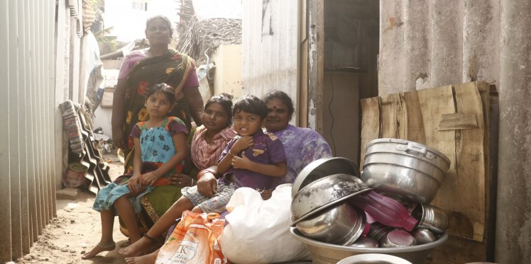 Amul with her family in Chennai