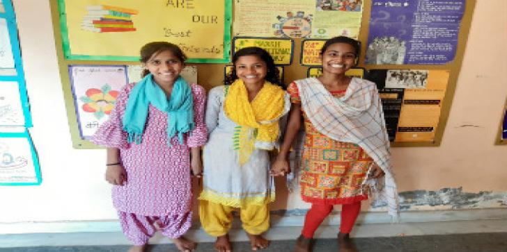 Oxfam India's role in girl child education.