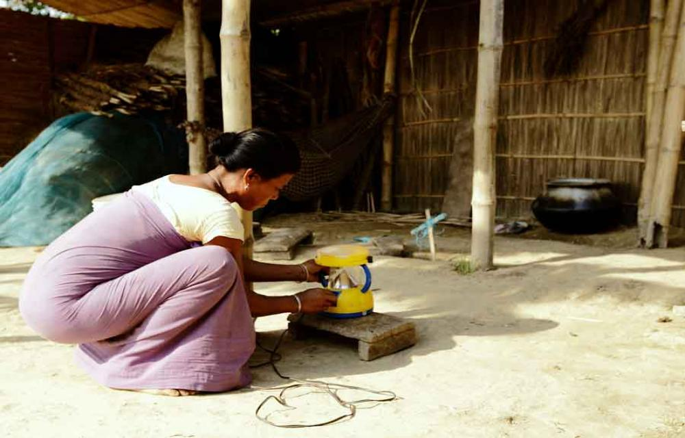 Solar lamps provide protection to this tribal family in Morigaon, Assam.